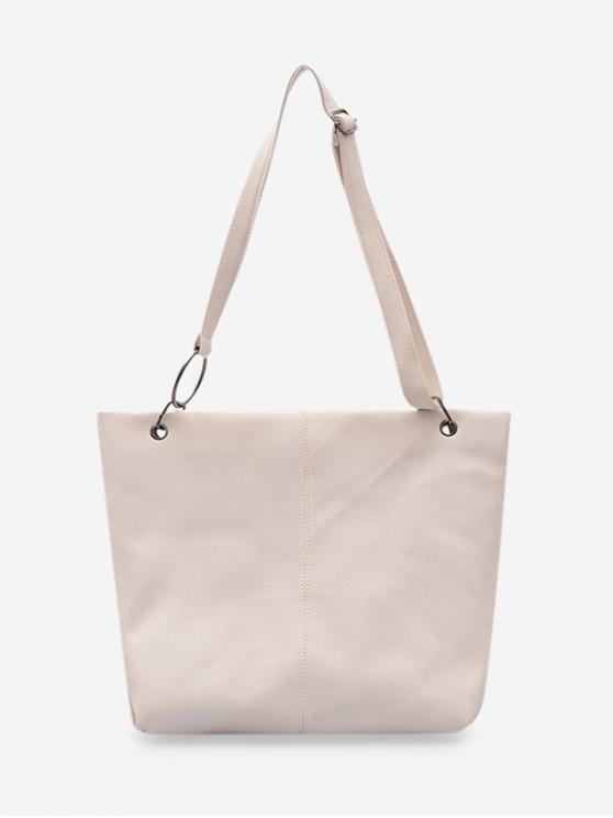 hot Soft Leather Adjustable Strap Sling Bag - MILK WHITE