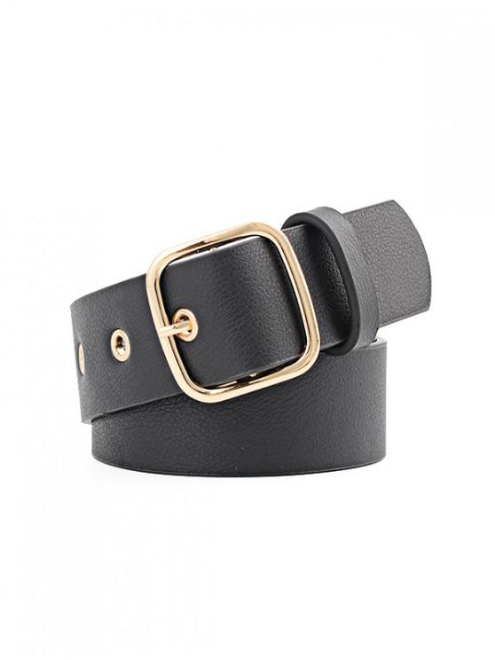 outfit Square Pin Buckle Waist Belt - BLACK