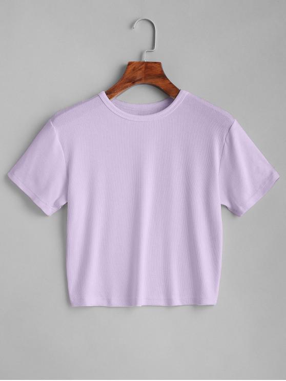 ZAFUL T-shirt Court Simple - Mauve L