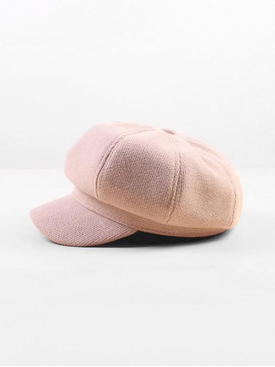 sale Peaked Octagonal Beret Solid Hat - PINK