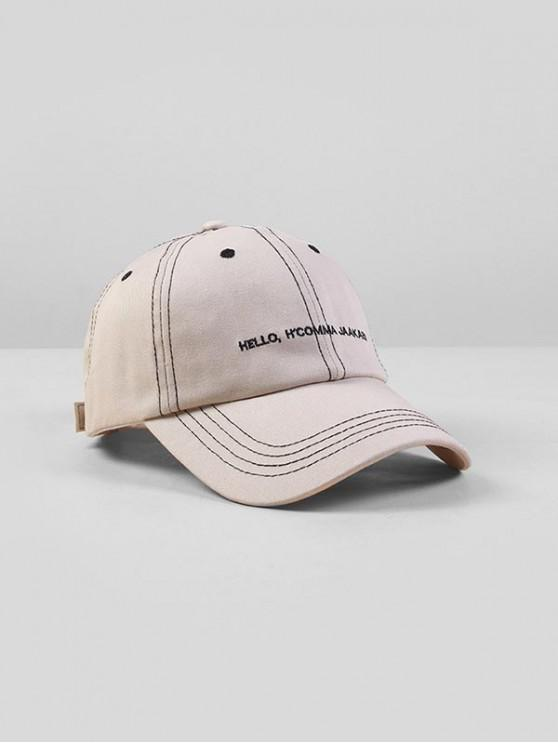 trendy Letters Embroidered Adjustable Baseball Cap - WHITE