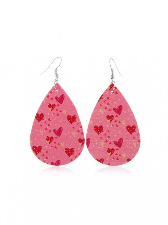 unique Valentine's Lip Heart Leather Earrings - MULTI-C
