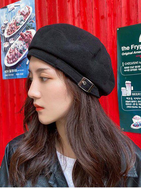 shops Japanese Winter Woolen Beret Cap - BLACK  Mobile