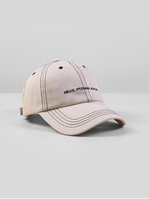 trendy Letters Embroidered Adjustable Baseball Cap - WHITE  Mobile