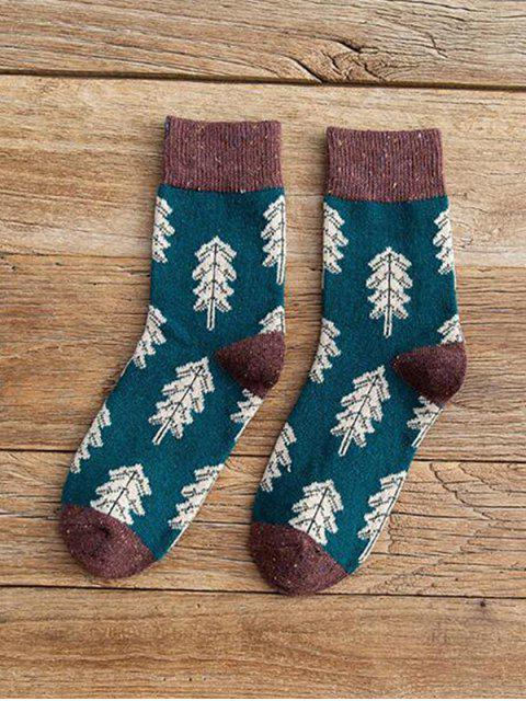 online Christmas Tree Pattern Confetti Socks - SEA TURTLE GREEN  Mobile