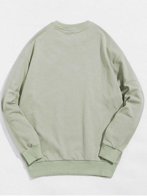 高爾夫貓信打印休閒運動衫 - 淺綠色 L Mobile