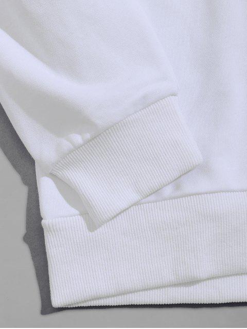 貓拳擊字母圖形打印卹 - 白色 XS Mobile