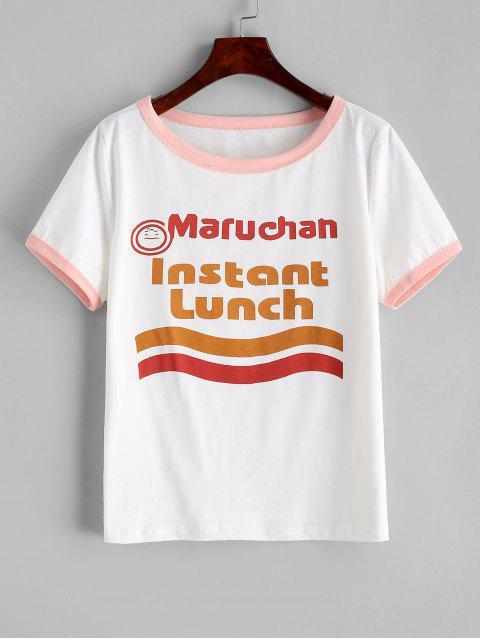T-shirt Slogan Graphique Amusant - Rose  L Mobile