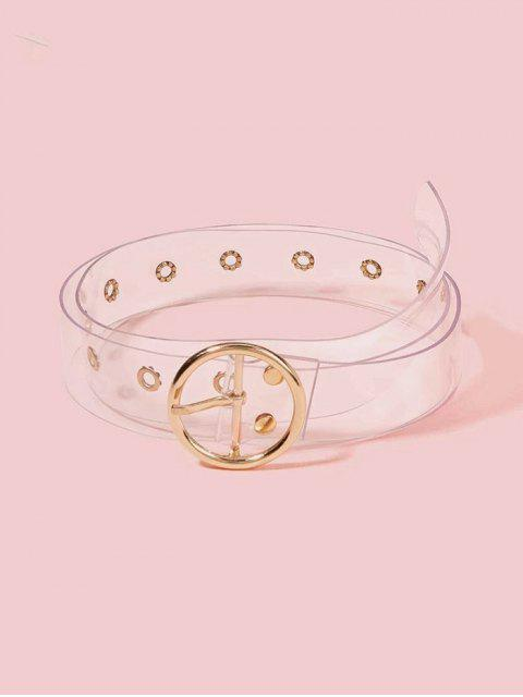 outfits Round Pin Buckle Transparent Belt - GOLD  Mobile