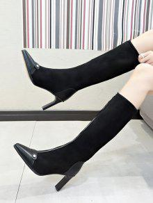 O ring Zip High Heel Pointed Toe Boots