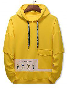 Letter Character Print Hoodie