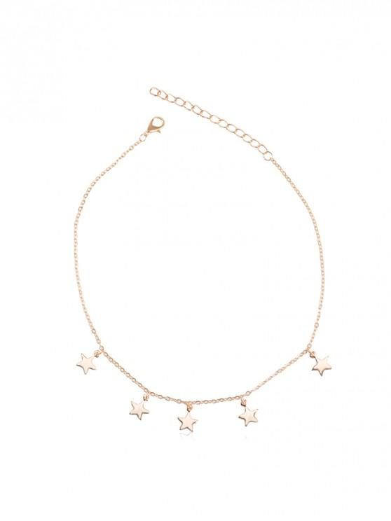 shops Star Pendant Adjustable Chain Choker Necklace - GOLD