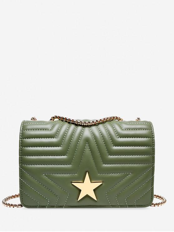 sale Star Quilted Chain Crossbody Bag - DARK SEA GREEN