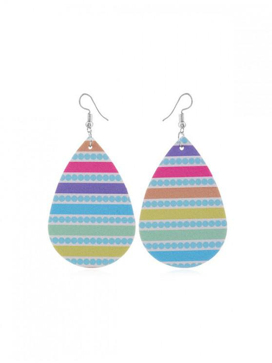 shop Water Drop Dangle Hook Earrings - MULTI-E