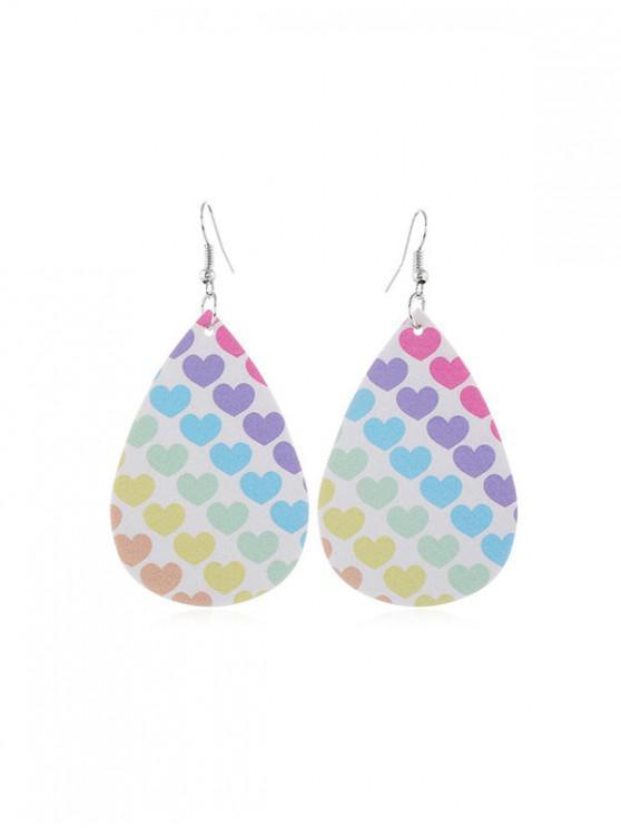 sale Water Drop Dangle Hook Earrings - MULTI-D