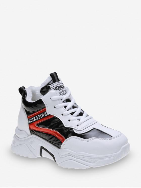 online Nice Print Metallic Fleece Dad Sneakers - CHESTNUT RED EU 38