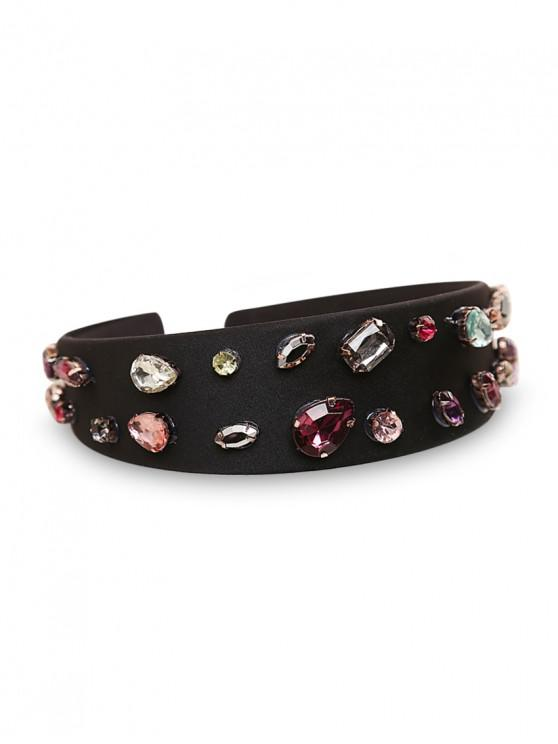 shop Rhinestone Geometric Waterdrop Embellished Hair Band - BLACK