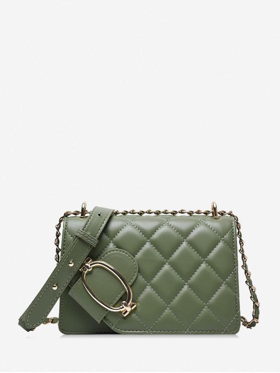 womens Casual Solid Color Textured Crossbody Bag - DARK SEA GREEN