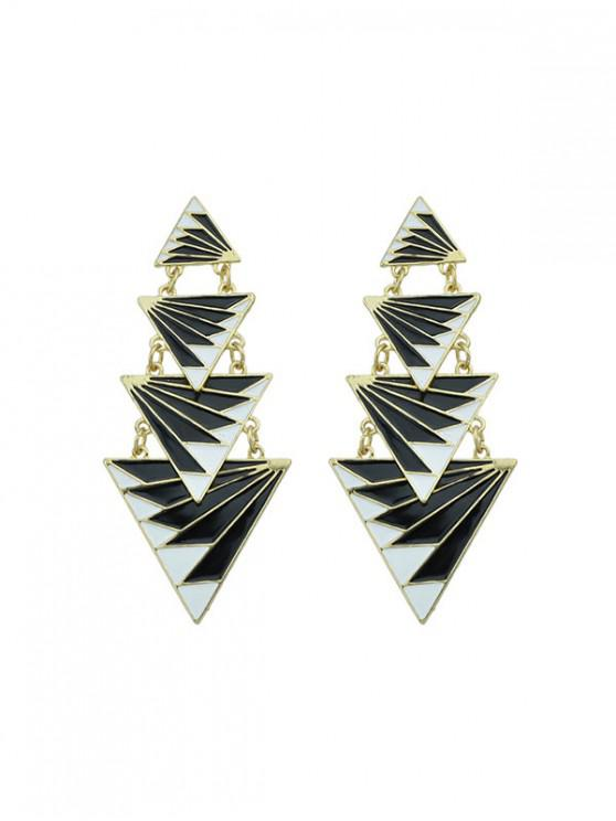 Pendientes de capas Triángulo - Negro