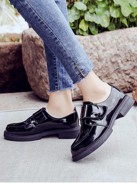 Кожаные Туфли С круглым носком С поясом - Чёрный ЕС 40 Mobile