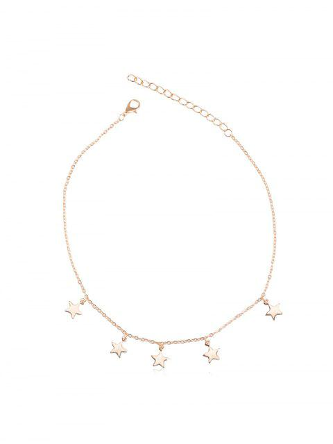 Collar de Cadena Ajustable en Forma de Estrella - Oro  Mobile