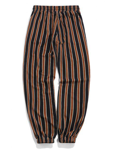 ZAFUL Pantalones Jogger de Estampado de Rayas - Negro XL Mobile