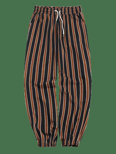 ZAFUL Stripes Print Drawstring Jogger Pants
