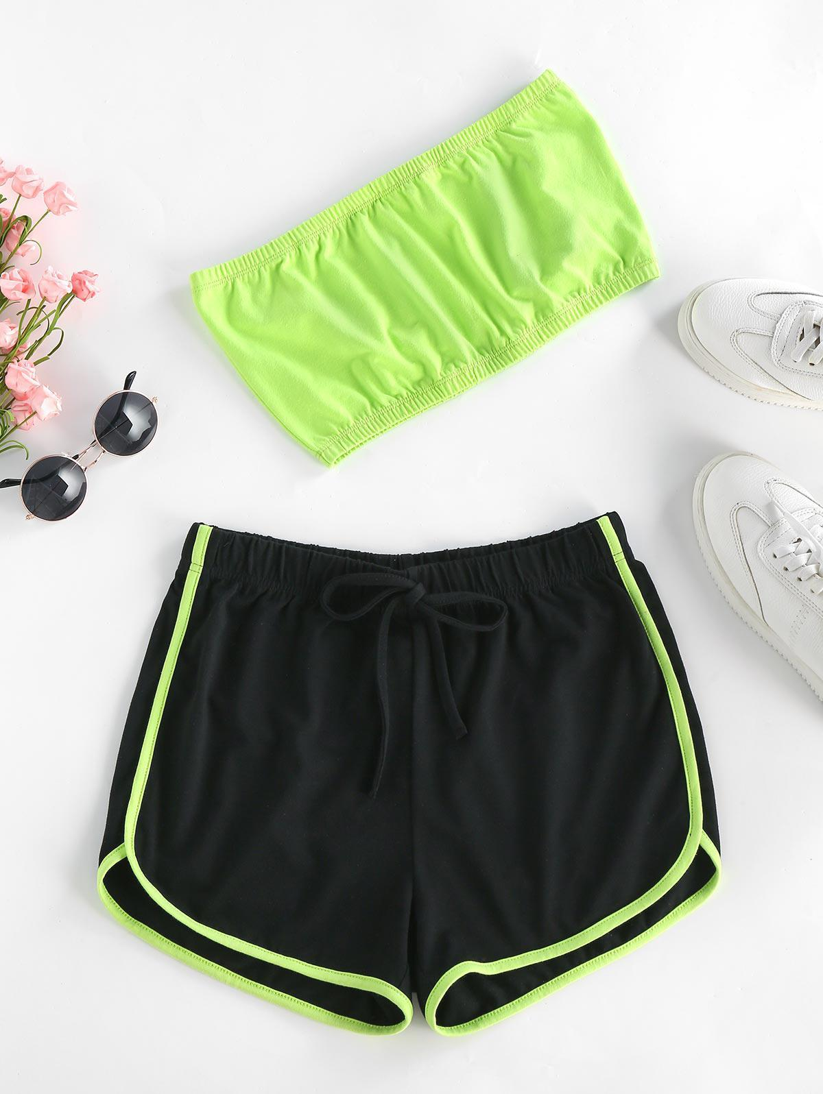 ZAFUL Neon Strapless Co Ord Set фото