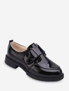 جولة مربوط تو الصوف أحذية جلدية - أسود الاتحاد الأوروبي 40