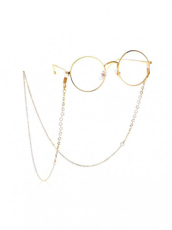 unique Hollow Out Star Sunglasses Lanyard - GOLD