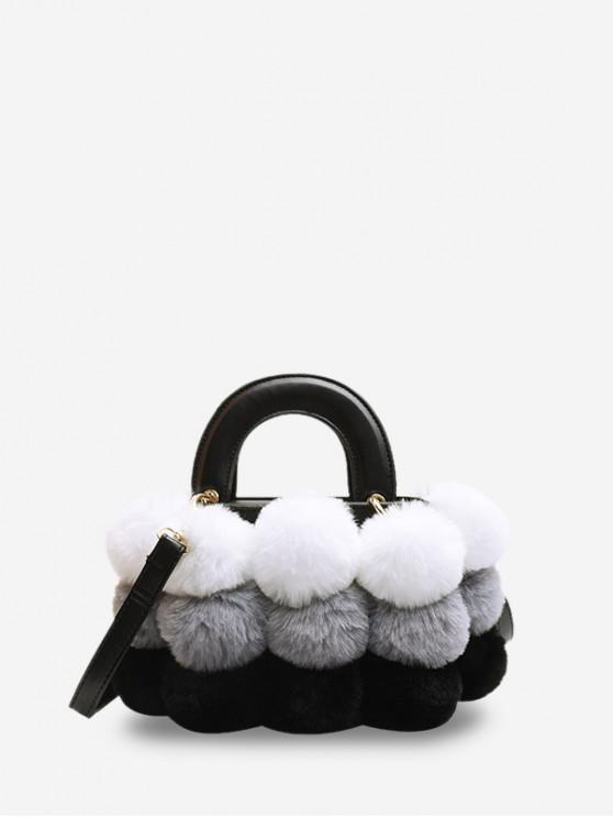 chic Crossbody Furry Balls Shoulder Bag - GRAY