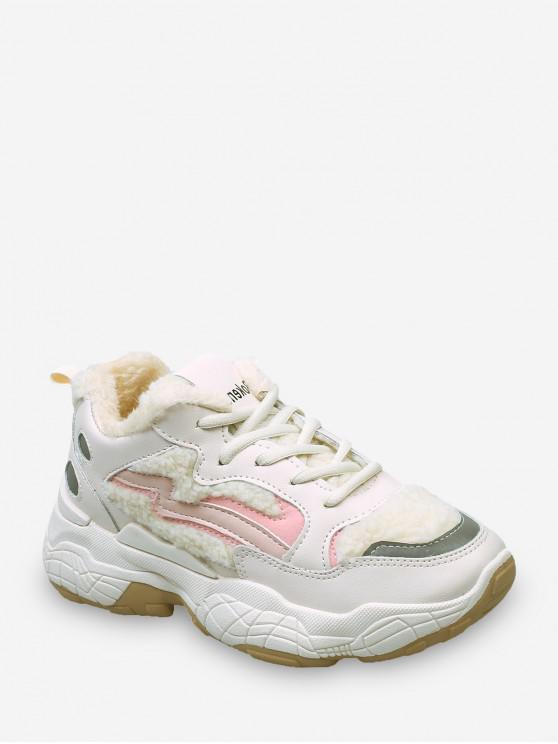Zapatos de Deporte de Lana de Recortar - Rosa Claro EU 38