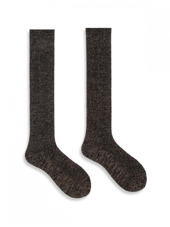 Chaussettes Hauteur à Genou Métallique en Coton - Or