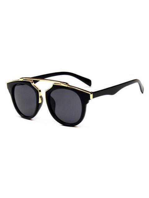 Ретро Круглые Солнцезащитные Очки Анти-UV - Чёрный  Mobile