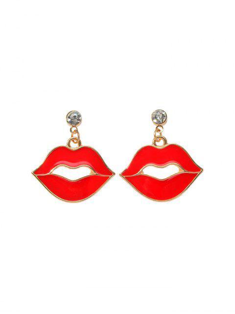 Эмаль Принт красной губы Серьги - Лава-красный  Mobile