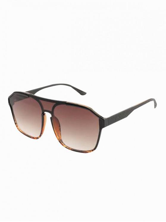 fancy Oversized Retro UV Protection Sunglasses - BLACK