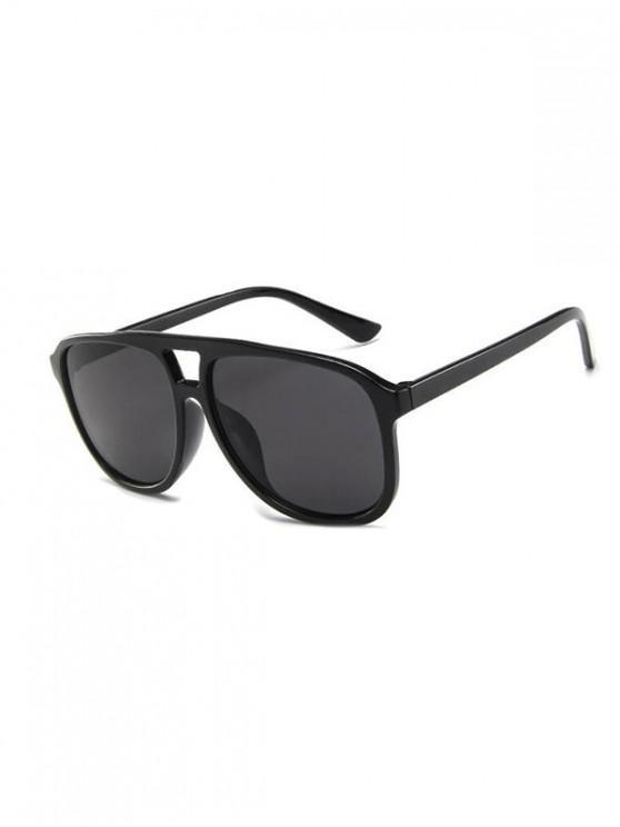 sale Oversized Bar Retro Unisex Sunglasses - BLACK