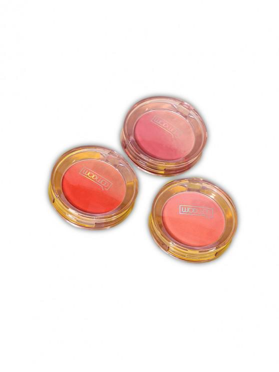 3pcs Ombre natural se ruborizan maquillaje colorete set - Multicolor-A