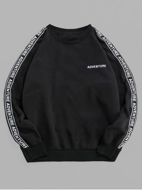 hot ZAFUL Leisure Letter Graphic Pattern Sweatshirt - BLACK 2XL