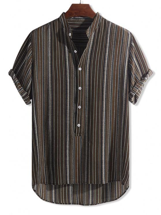 Camisa Asimétrica Estampados Tribal - Multicolor-D 2XL