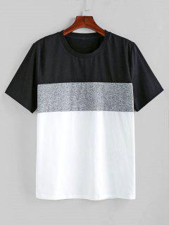 ZAFUL Color Spliced Short Sleeves T-shirt - Multi-a S