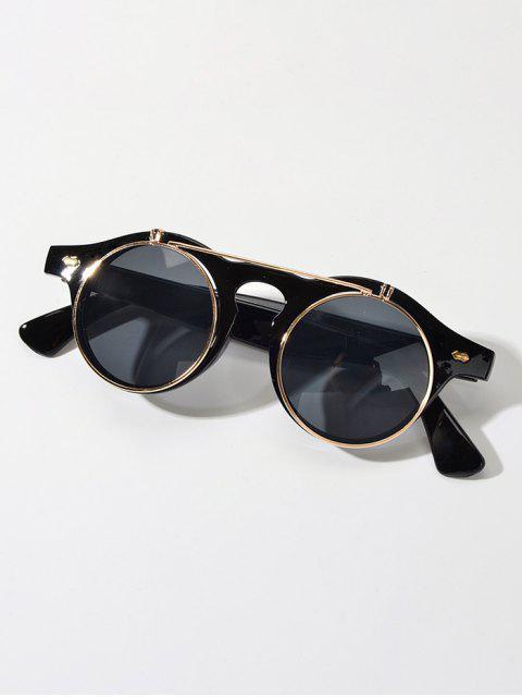 Анти-UV Круглые Солнцезащитные Очки - Чёрный  Mobile