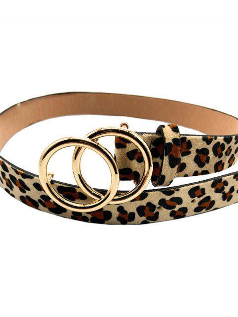 Ажурный Пояс С леопардовым принтом Круглая пряжка - Леопард  Mobile