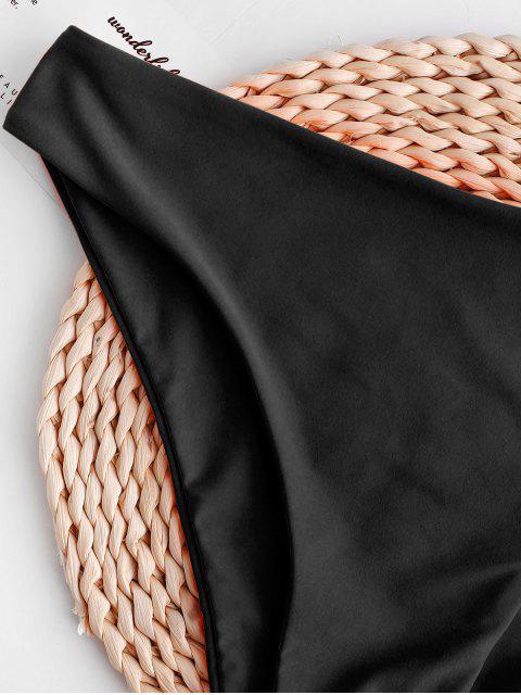ZAFUL Basik Bikini Unterteile mit Mittele Taille - Schwarz L Mobile
