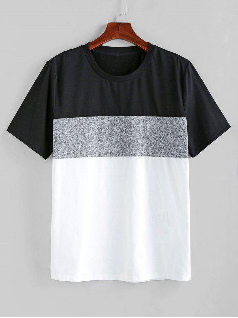ZAFUL Color Spliced Short Sleeves T-shirt - متعددة-A S Mobile