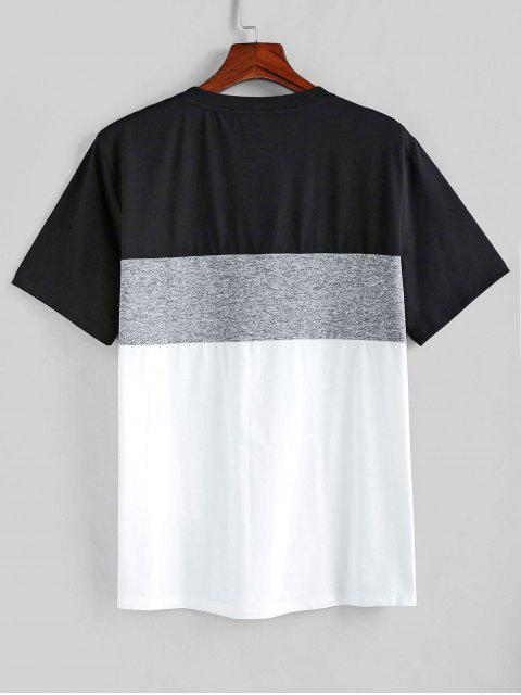 ZAFUL Farbe Gespleißter T-Shirt mit Kurzen Ärmeln - Multi-A S Mobile