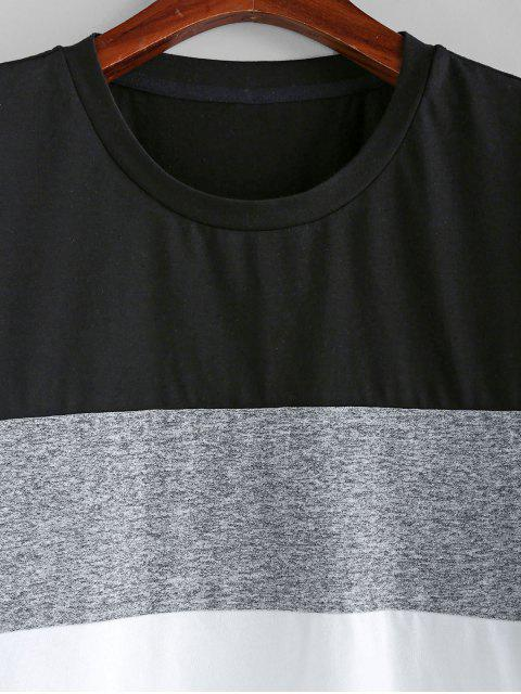 ZAFUL Camiseta de Manga Corta Empalme de Color - Multicolor-A 2XL Mobile