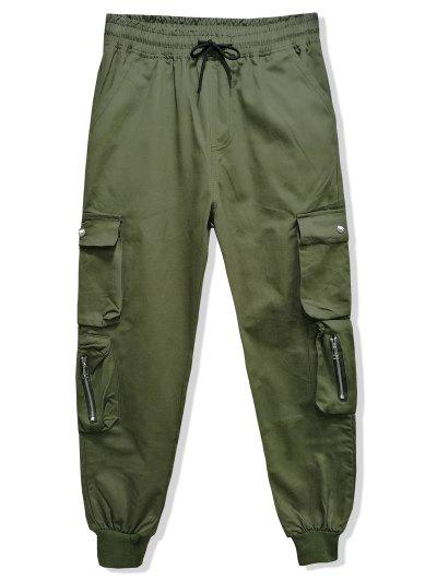 Solid Color Multi pocket Jogger Pants