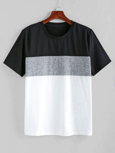 ZAFUL Color Spliced Short Sleeves T-shirt - Multi-a Xl