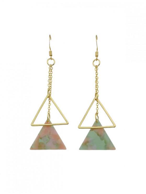 sale Marbling Hollow Triangle Drop Earrings - LIGHT PINK